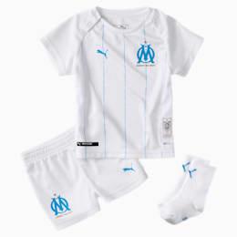 Mini Kit principal do Olympique de Marseille para bebé, Puma White-Bleu Azur, small