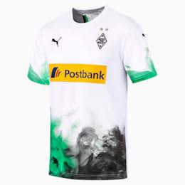 Borussia Mönchengladbach Men's Home Replica Jersey, Puma White-Bright Green, small
