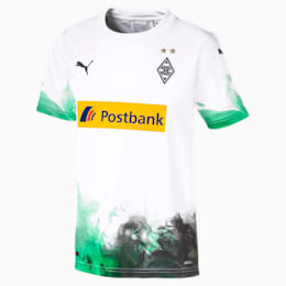 Borussia Mönchengladbach Home Replica Youth Jersey, Puma White-Bright Green, small