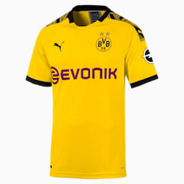 Maillot domicile BVB Authentic pour homme, Cyber Yellow-Puma Black, small