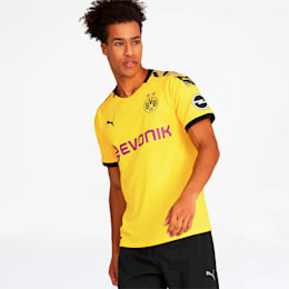 BVB Men's Home Replica Jersey, Cyber Yellow-Puma Black, small
