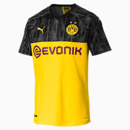 BVB Men's Cup Replica Jersey, Cyber Yellow-Puma Black, small