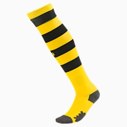 Chaussettes rayées BVB pour homme, Cyber Yellow-Puma Black, small