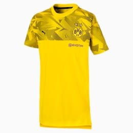 BVB CASUALS T-SHIRT TIL BØRN, Cyber Yellow-Puma Black, small