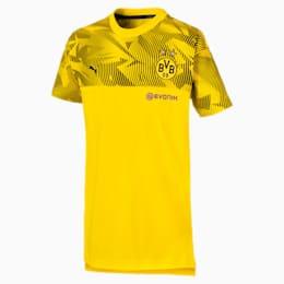 T-shirt BVB Casuals bambino, Cyber Yellow-Puma Black, small