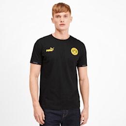 T-shirt BVB Football Culture para homem, Puma Black, small