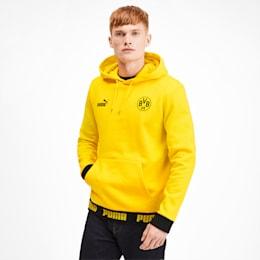 BVB FOOTBALL CULTURE HÆTTETRØJE TIL HERRER, Cyber Yellow, small