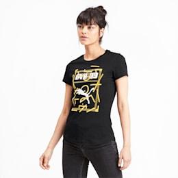 T-shirt BVB DNA para mulher, Puma Black, small
