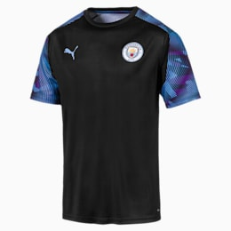 Man City Men's Training Jersey, Puma Black-Team Light Blue, small