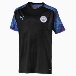 Camisola de treino do Man City para criança, Puma Black-Team Light Blue, small