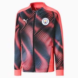 Man City Stadium League Kids' Jacket, Georgia Peach-Puma Black, small