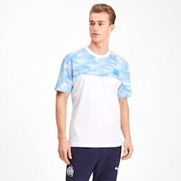 Olympique de Marseille Casuals Herren T-Shirt, Puma White-Bleu Azur, small