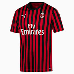 Camiseta de la primera equipación de réplica de hombre AC Milan, Tango Red -Puma Black, small