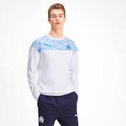 Olympique de Marseille Casuals Herren Sweatshirt, Puma White-Bleu Azur, small