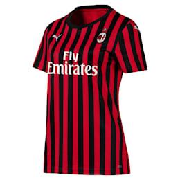 Camisola principal de manga curta do AC Milan Replica para mulher