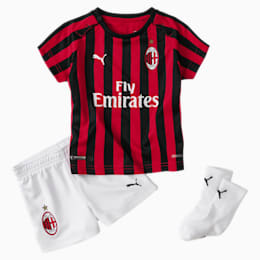 Mini Kit principal do AC Milan para bebé com meias, Tango Red -Puma Black, small