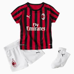 Niemowlecy mini strój domowy AC Milan ze skarpetami