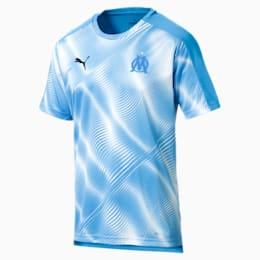 Camisola Olympique de Marseille Stadium para homem, Bleu Azur-Puma White, small