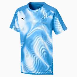 Olympique de Marseille Kinder Stadium Trikot, Bleu Azur-Puma White, small