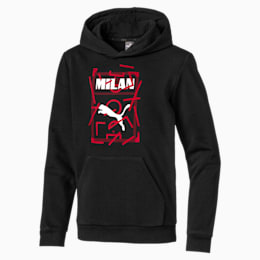 AC Milan DNA Kinder Hoodie, Puma Black-Tango Red, small