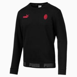 AC Milan Men's Football Culture Sweater, Puma Black-Tango Red, small