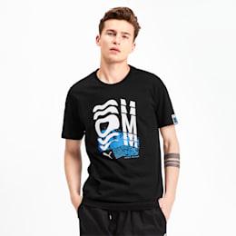 T-Shirt Olympique de Marseille Graphic pour homme, Puma Black, small
