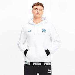 Olympique de Marseille Men's Football Culture Hoodie, Puma White, small