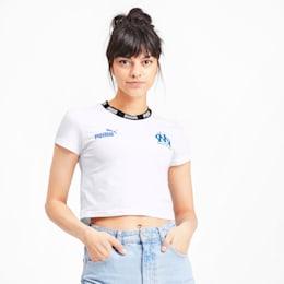 Olympique de Marseille Football Culture Damen T-Shirt, Puma White, small