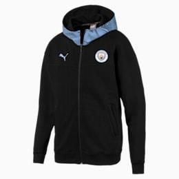 Manchester City Casuals Herren Kapuzenjacke, Puma Black-Team Light Blue, small