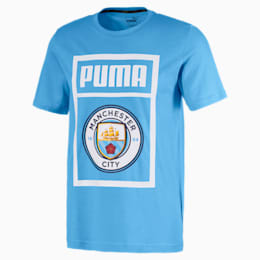 Manchester City Herren Shoe Tag T-Shirt, Team Light Blue-Puma white, small