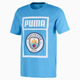 T-Shirt  Manchester City Shoe Tag pour homme, Team Light Blue-Puma white, small