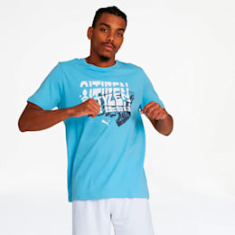 Manchester City FC Men's Graphic Tee, Team Light Blue, small