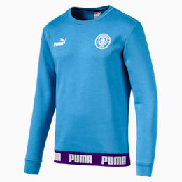 Sweat Manchester City Football Culture pour homme, Team Light Blue-Puma White, small