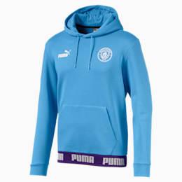 Man City Football Culture Men's Hoodie, Team Light Blue-Puma White, small