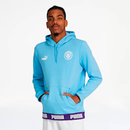 Manchester City FC FtblCulture Men's Hoodie, Team Light Blue-Puma White, small