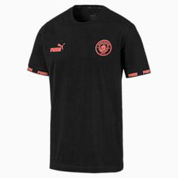 Manchester City Football Culture Herren T-Shirt, Puma Black-georgia peach, small