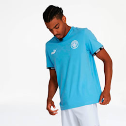 Manchester City FC FtblCulture Men's Tee, Team Light Blue, small