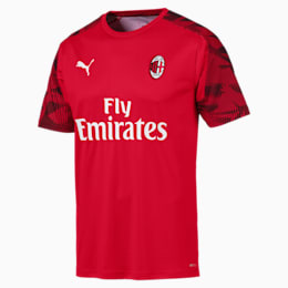 Camisola de treino de manga curta do AC Milan para homem