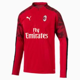 Camisola do AC Milan com fecho 1/4 para homem