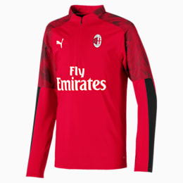 AC Milan Quarter Zip Kids' Top, Tango Red -Puma Black, small