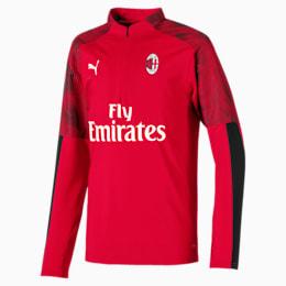 Camisola AC Milan com fecho 1/4 para criança, Tango Red -Puma Black, small