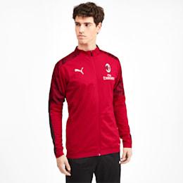 AC Milan Herren Poly Jacke, Puma Black-Tango Red -1, small