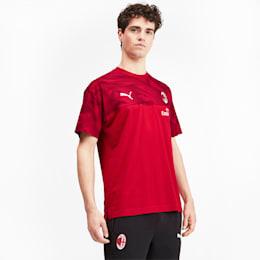 T-shirt AC Milan Casuals para homem, Tango Red -Puma Black, small