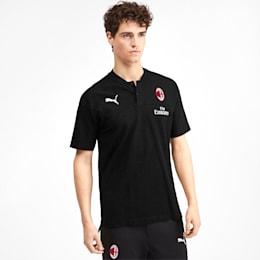 Polo AC Milan Casuals para homem, Puma Black-Tango Red, small