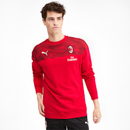 AC Milan Casuals Men's Sweater, Tango Red -Puma Black, small