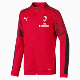AC Milan Kids' Poly Jacket, Tango Red -Puma Black, small