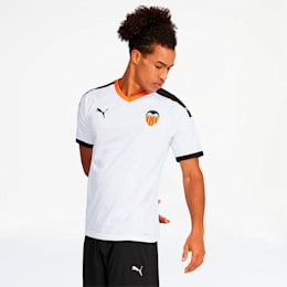 Valencia CF Men's Home Replica Jersey, White- Black-Vibrant Orange, small