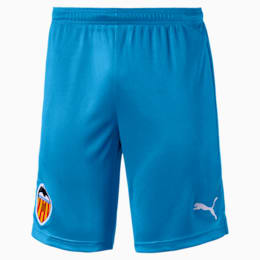 Valencia CF Replica Men's Shorts, Bleu Azur-Puma White, small