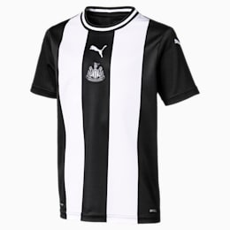Newcastle United FC Replica Home Short Sleeve Youth Jersey, Puma White-Puma Black, small