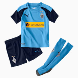 Mini set Extérieur Borussia Mönchengladbach pour enfant, Team Light Blue-Peacoat, small